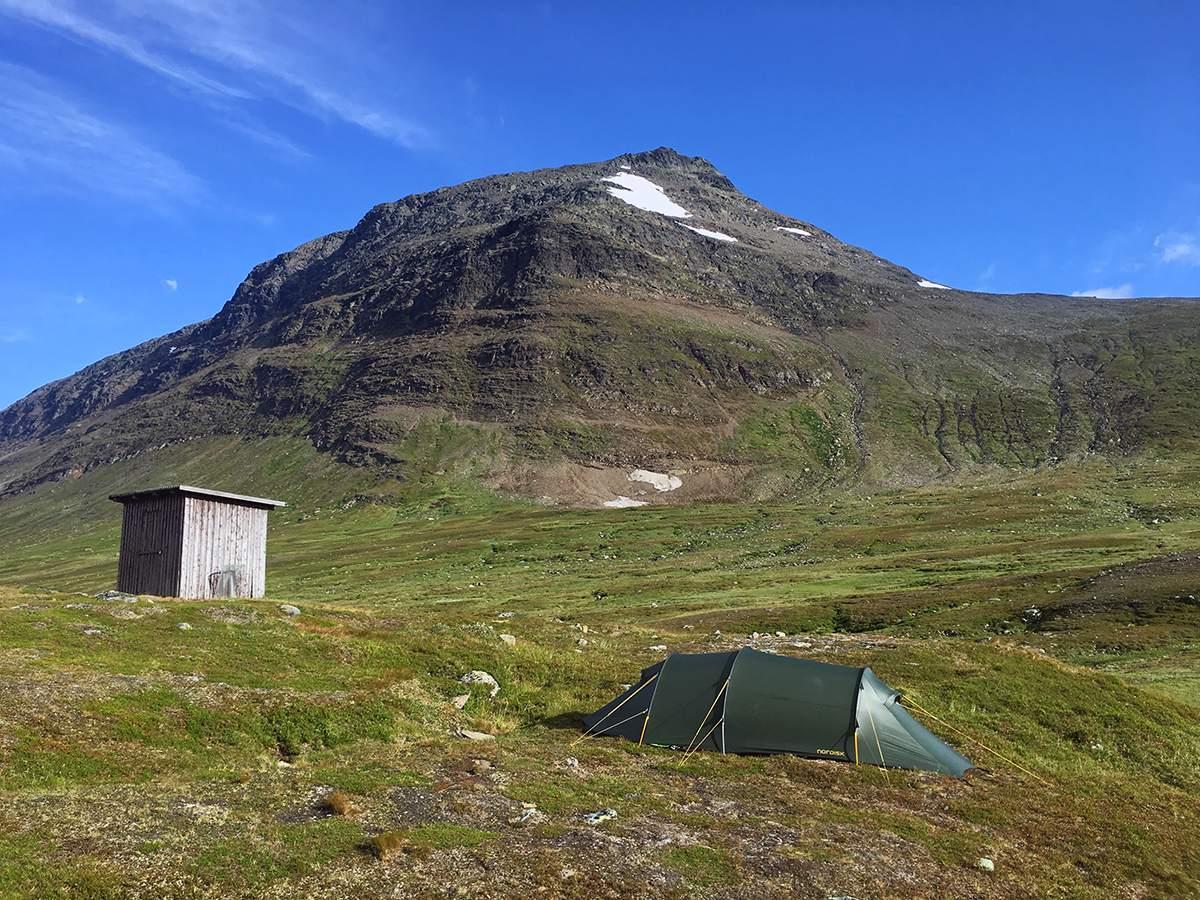 camping on kungsleden