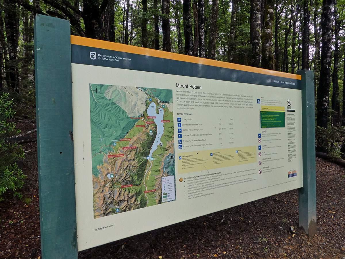 angelus hut hike map