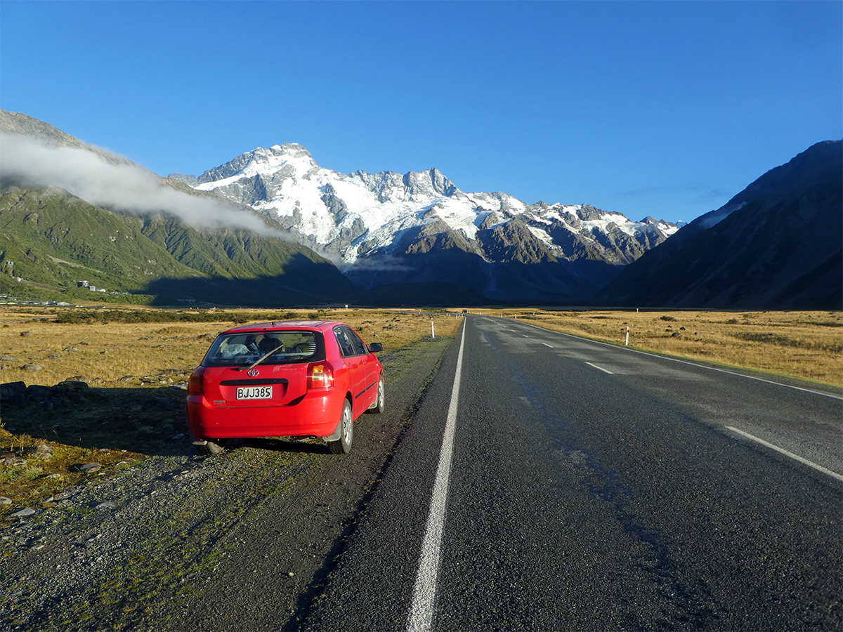 Road to Mount Cook Hooker Valley Track