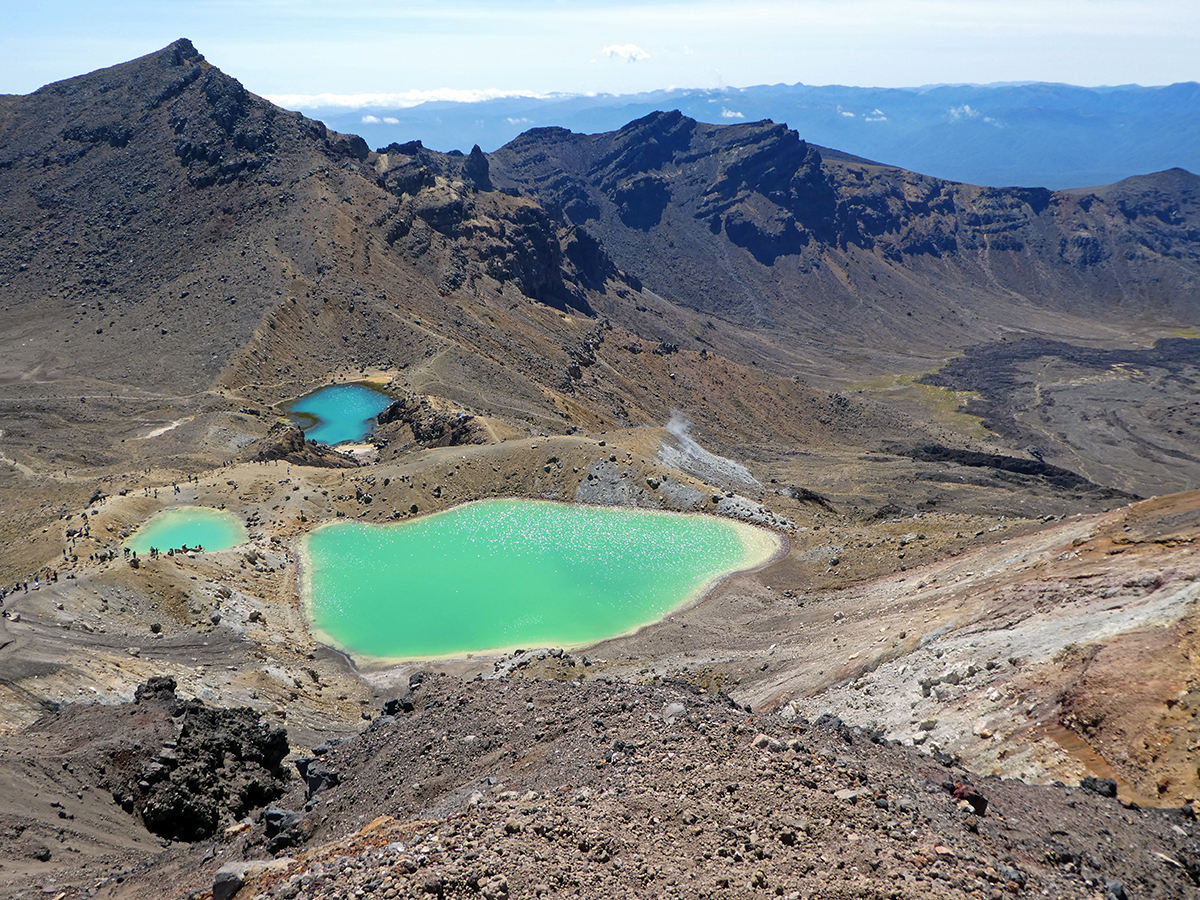 Emerald Lakes at the Tongariro Crossing