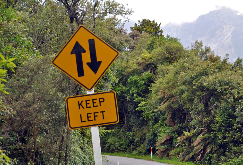 keep left while driving in new zealand