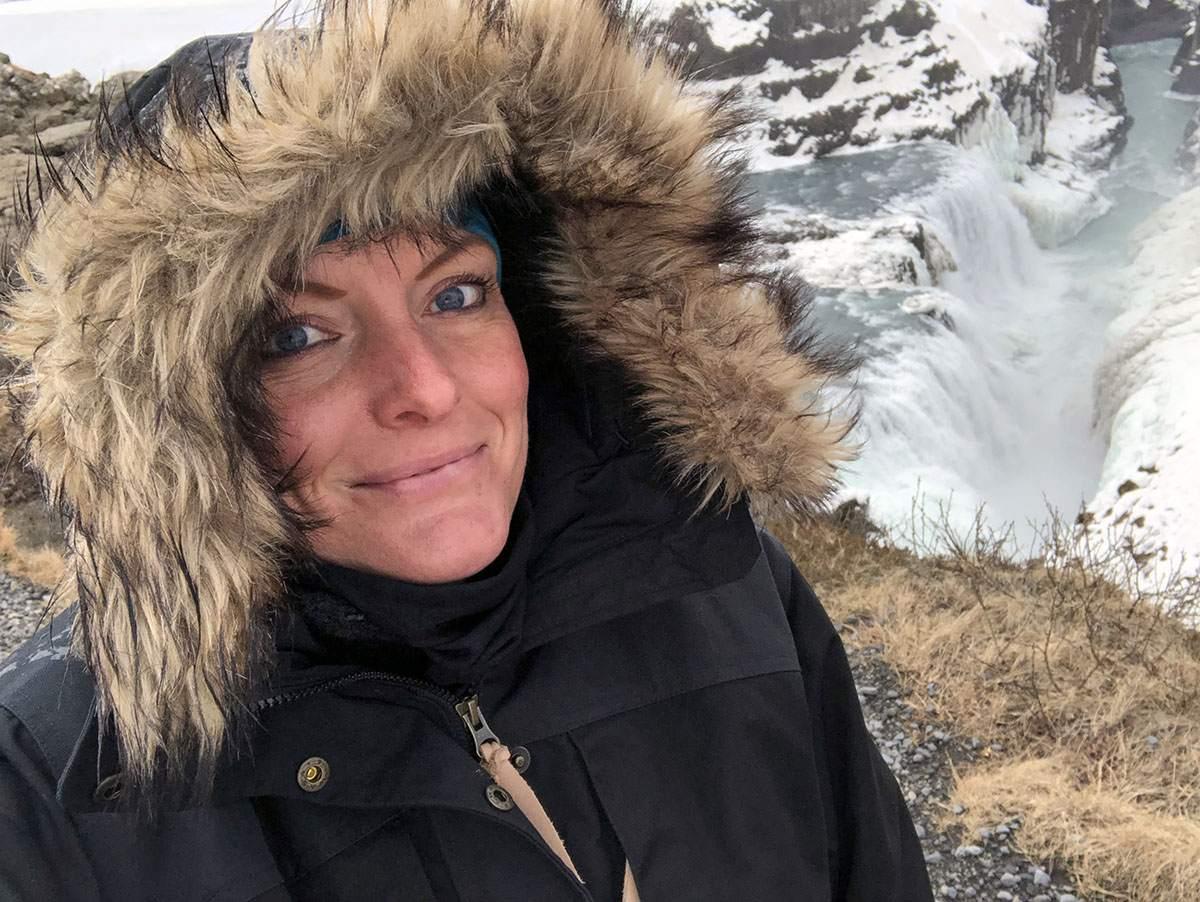 Winter near Gullfoss