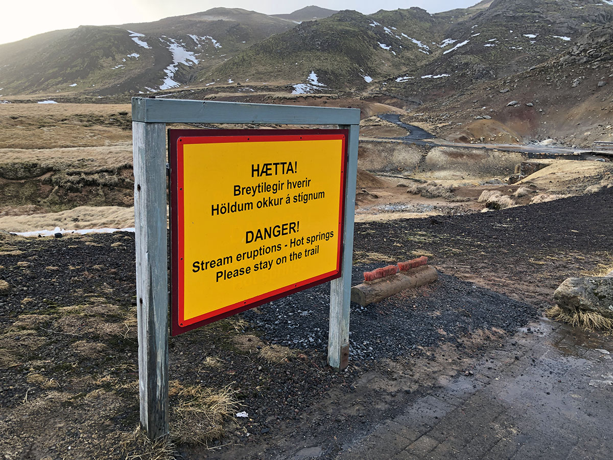 Danger in Iceland in winter