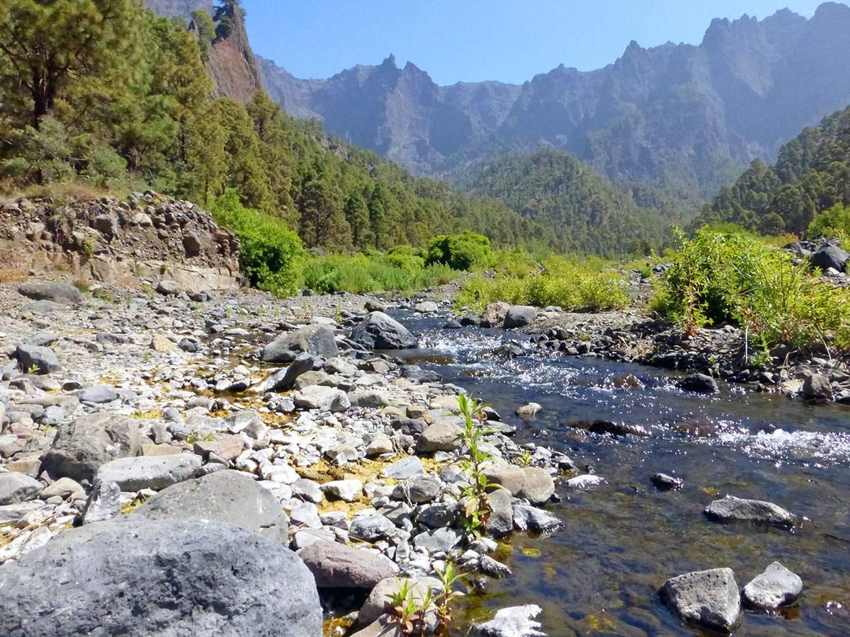 Caldera de Taburiente Los Brecitos wandelen op La Palma wandelroutes