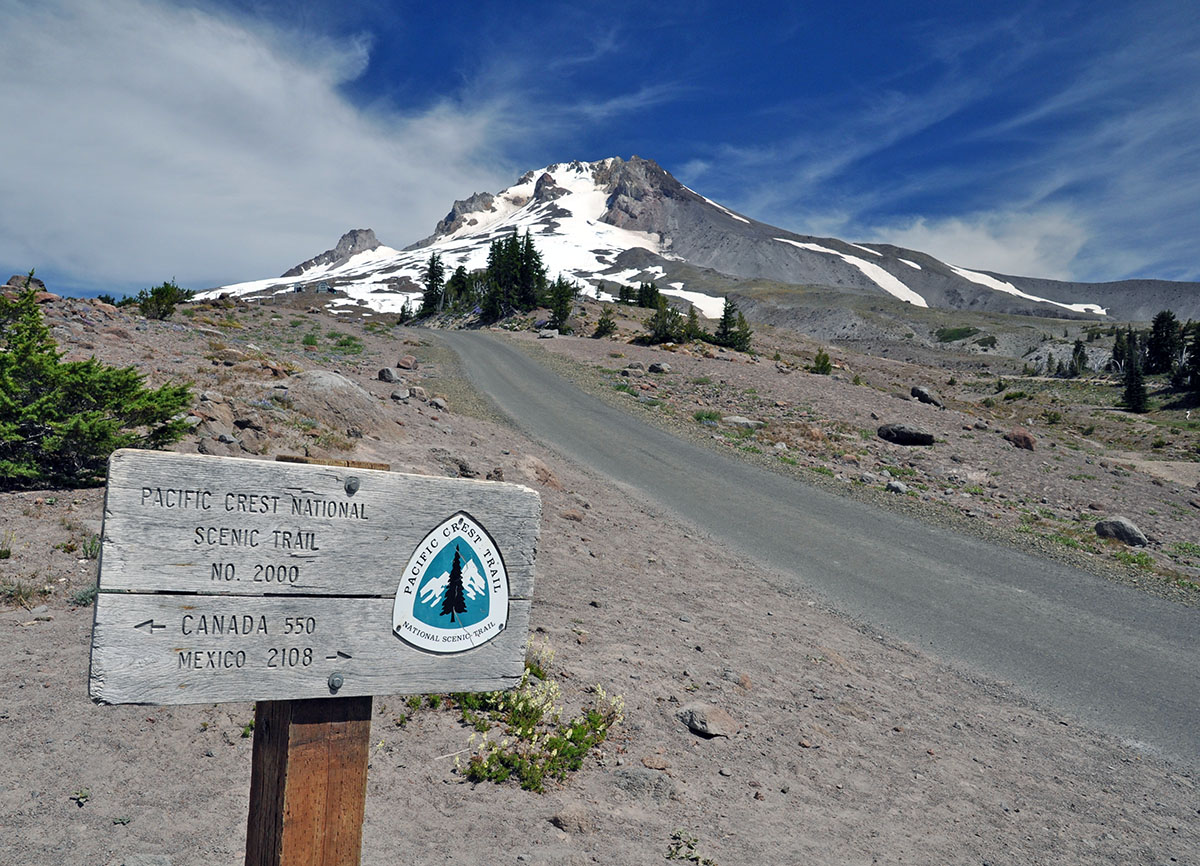 Hiking the PCT near Mount Hood