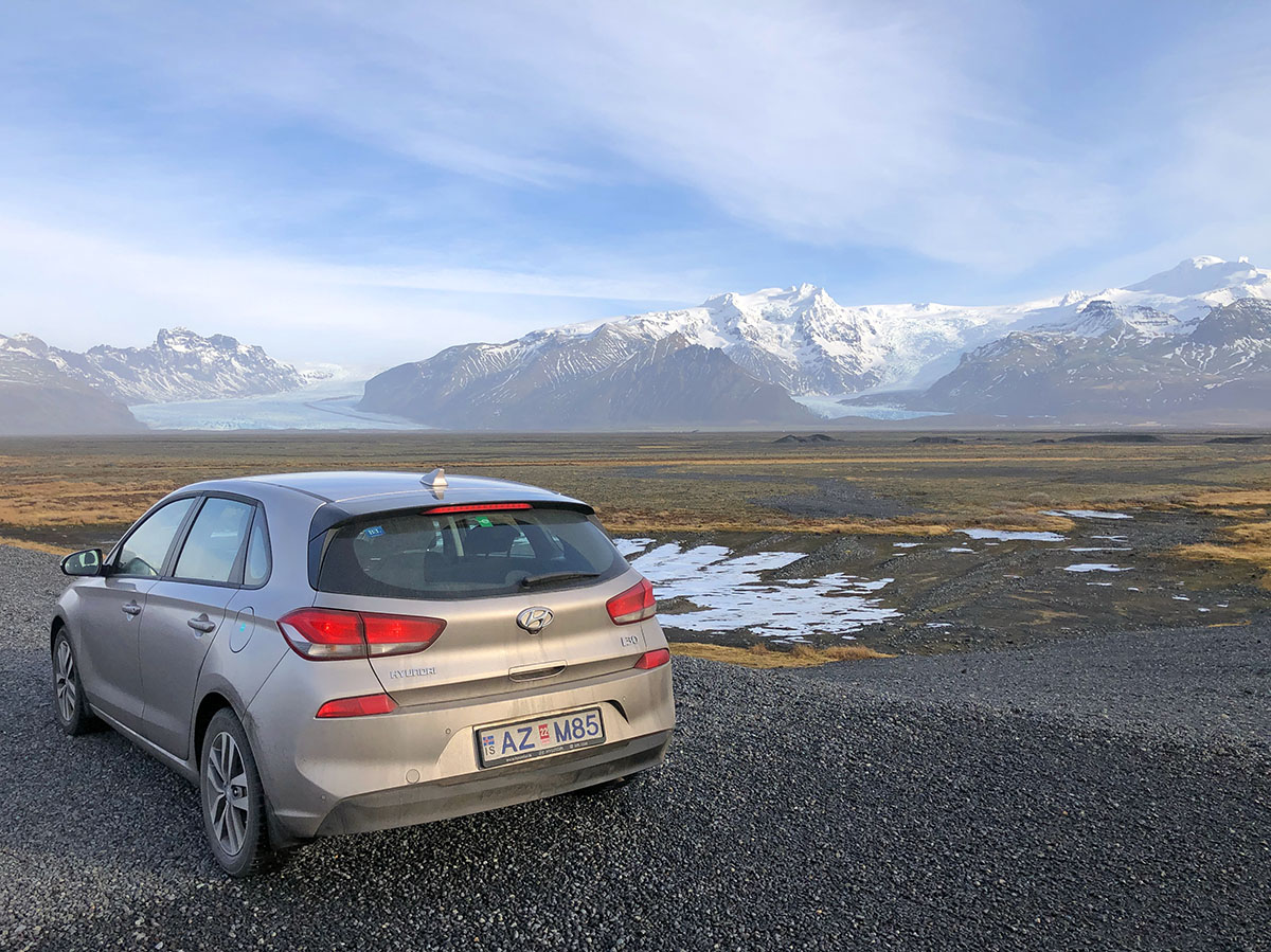 Rental car in Iceland in winter