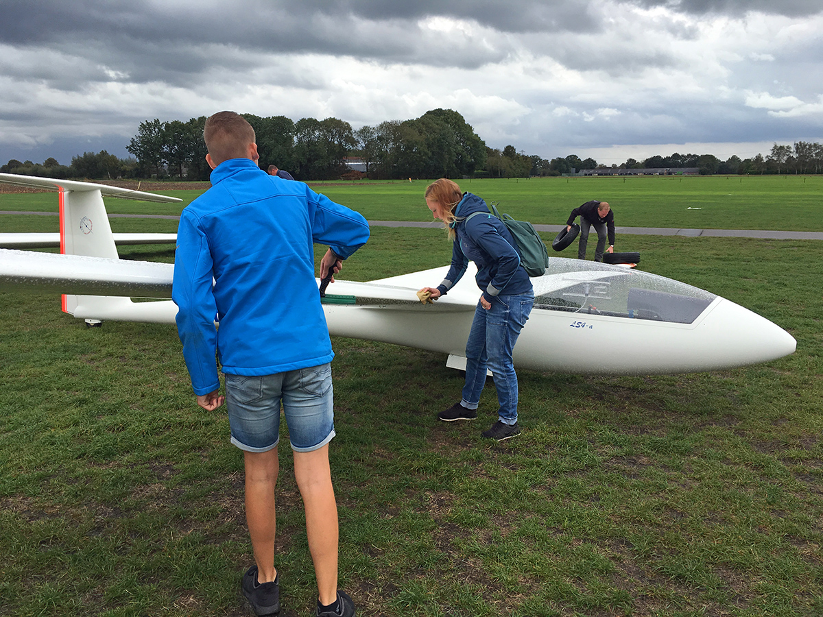 zweefvliegen in Salland met Aeroclub Salland