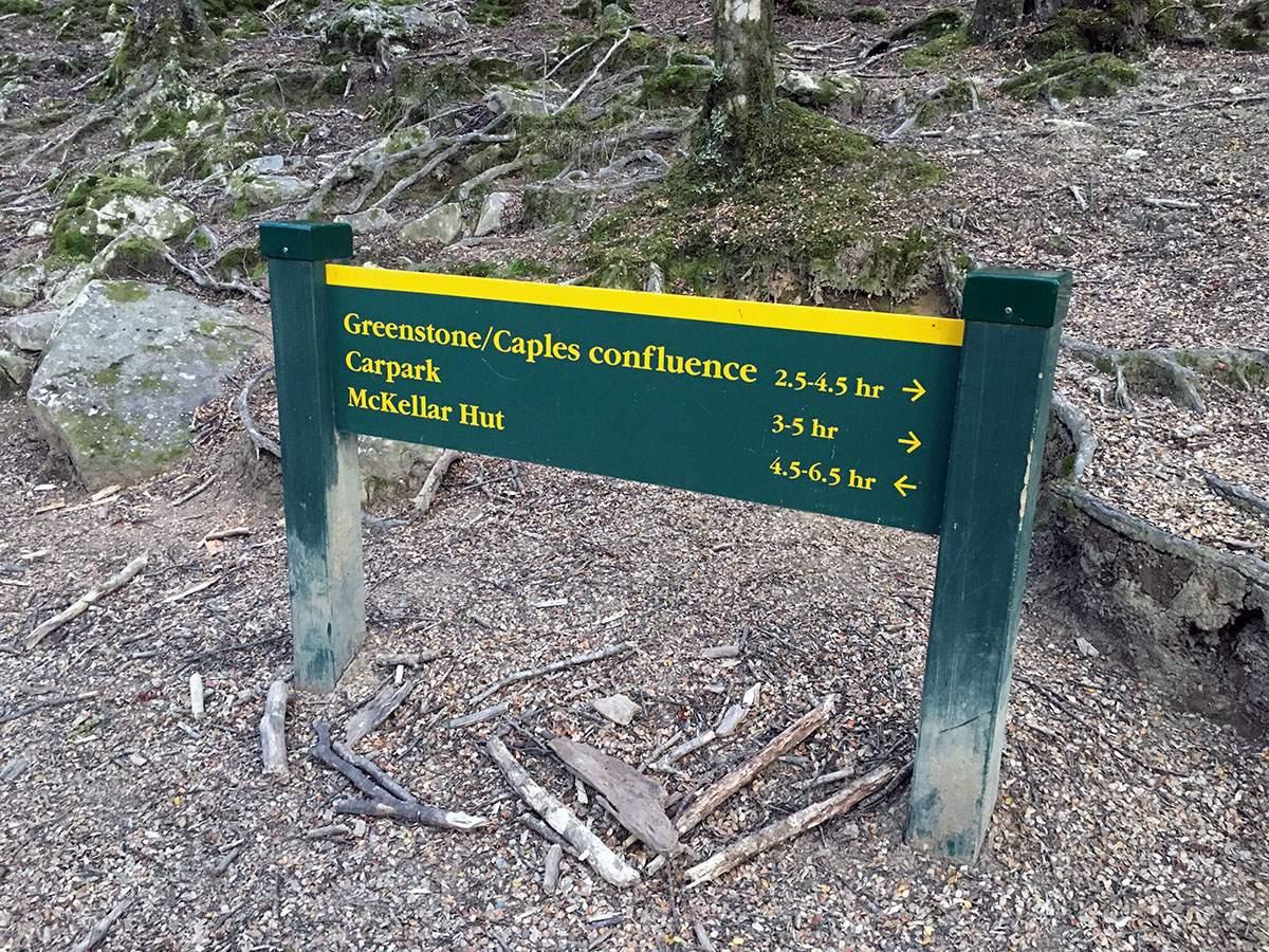 Geenstone Caples signpost