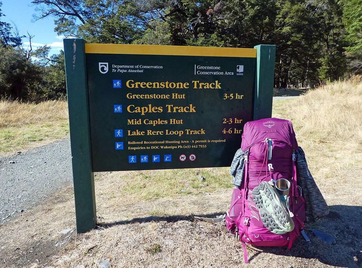 Greenstone Caples Track t trailhead