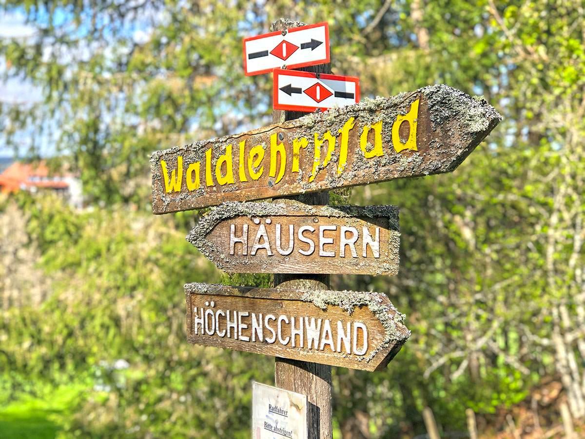 Waldlehrpfad Häusern wandelen zwarte woud