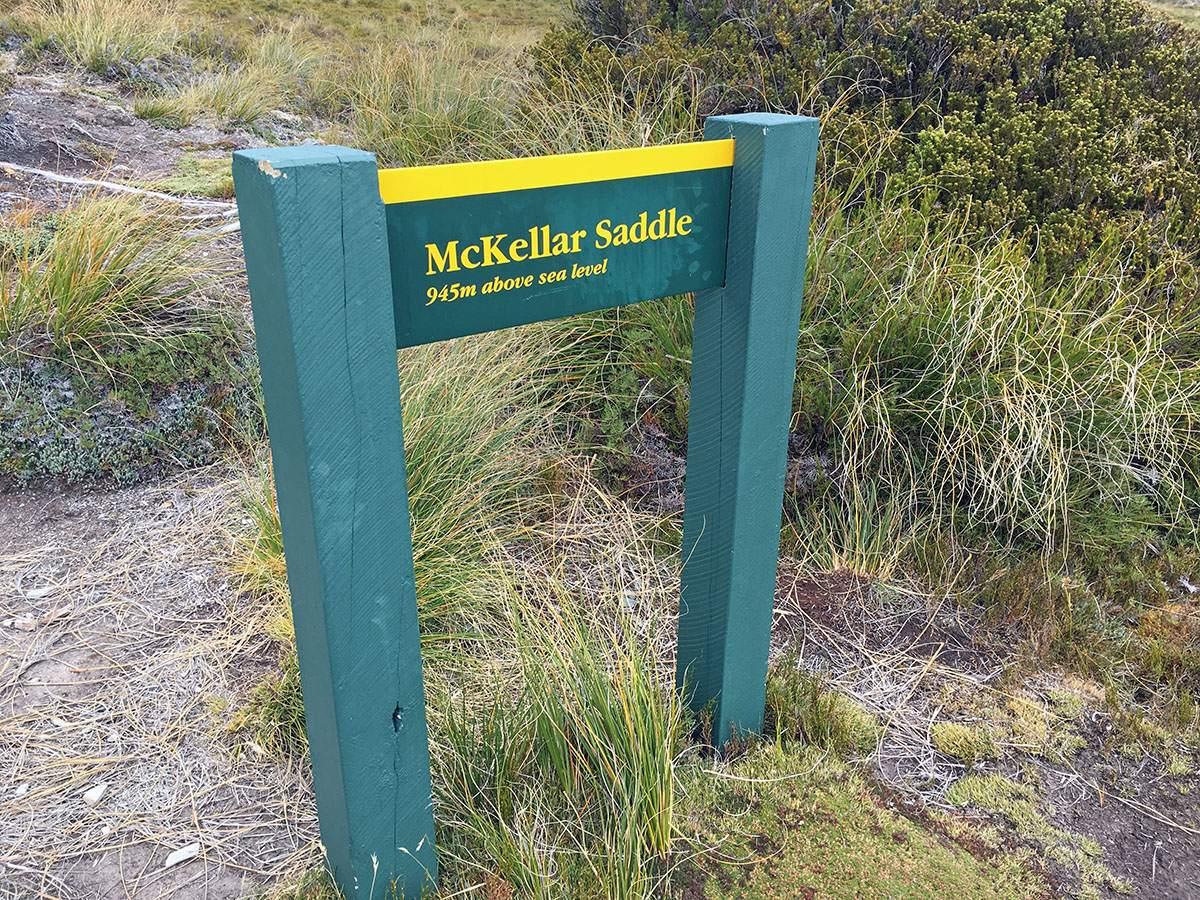 McKellar Saddle sign
