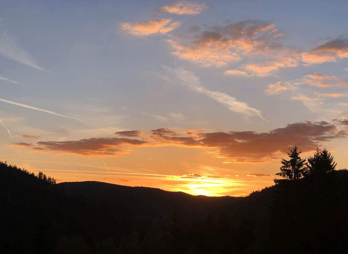 zonsondergang vakantie zwarte woud