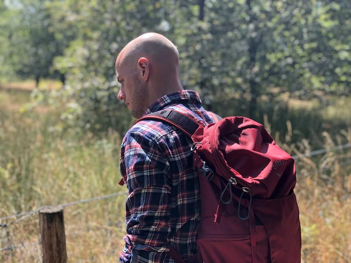 David met de Osprey Skarab