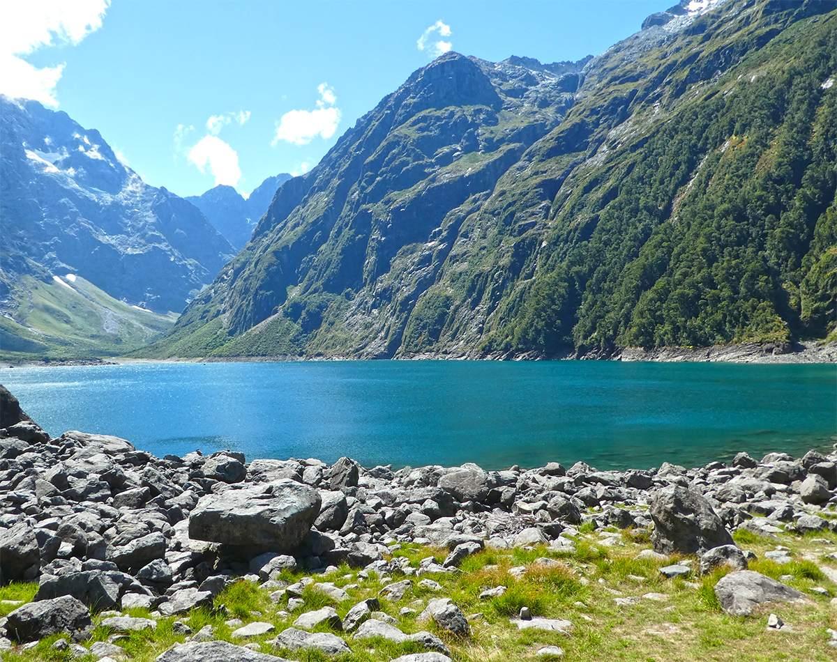 Lake Marian hike Fiordland National Park New Zealand
