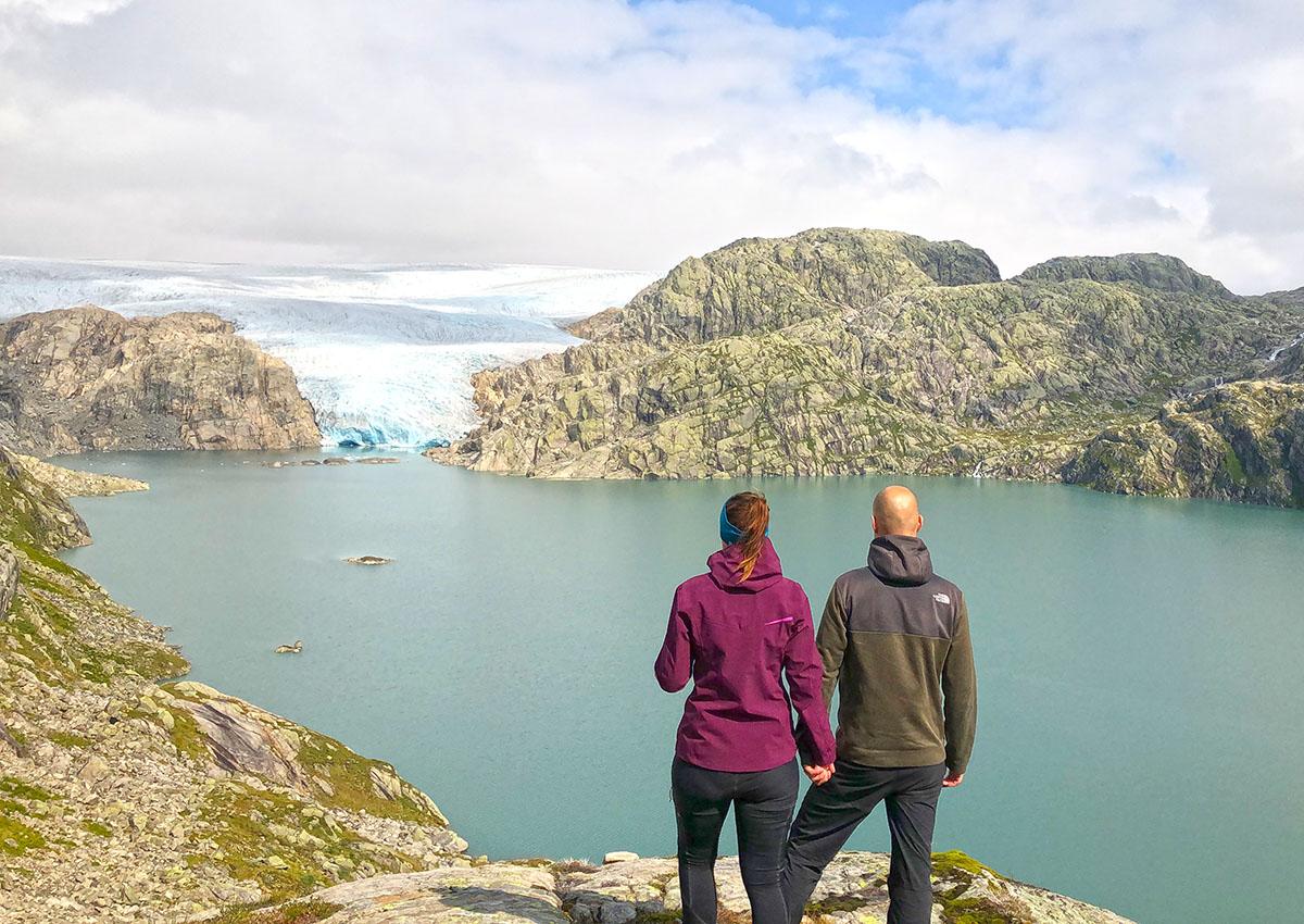 Møsevassbreen glacier in Folgefonna NP