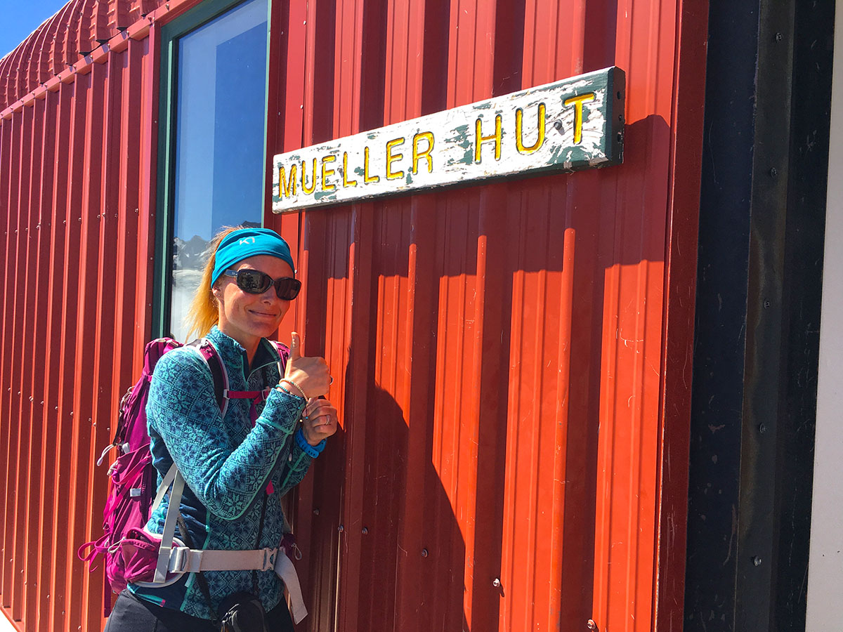 Anto at Mueller Hut New Zealand