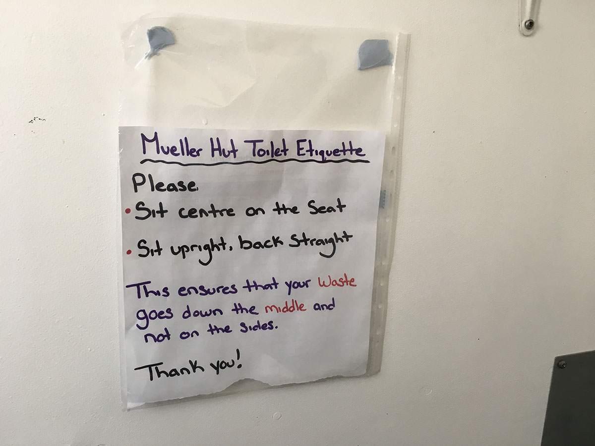 Mueller Hut toilet