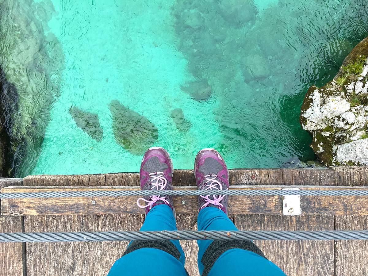 Soca Valley in Slovenië blauw water
