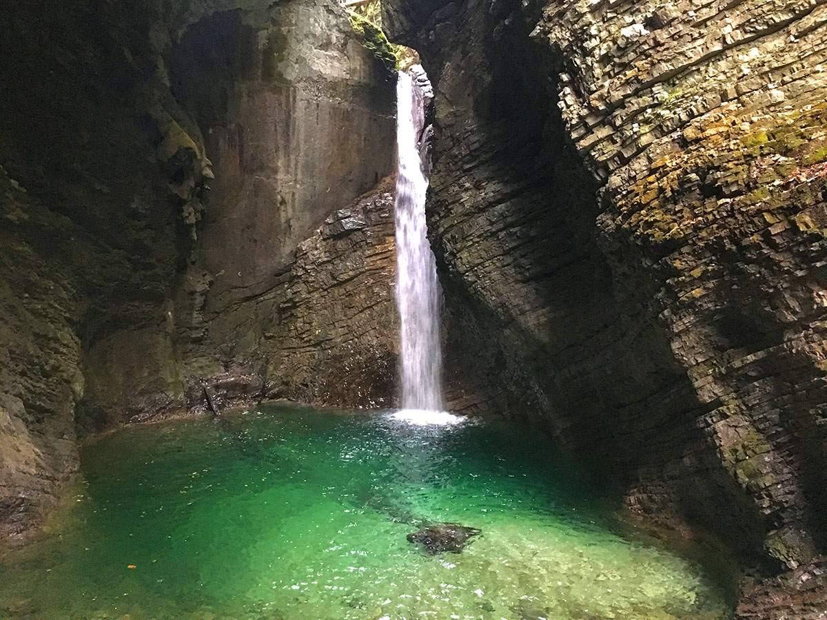 Kozjak waterfall Slovenia