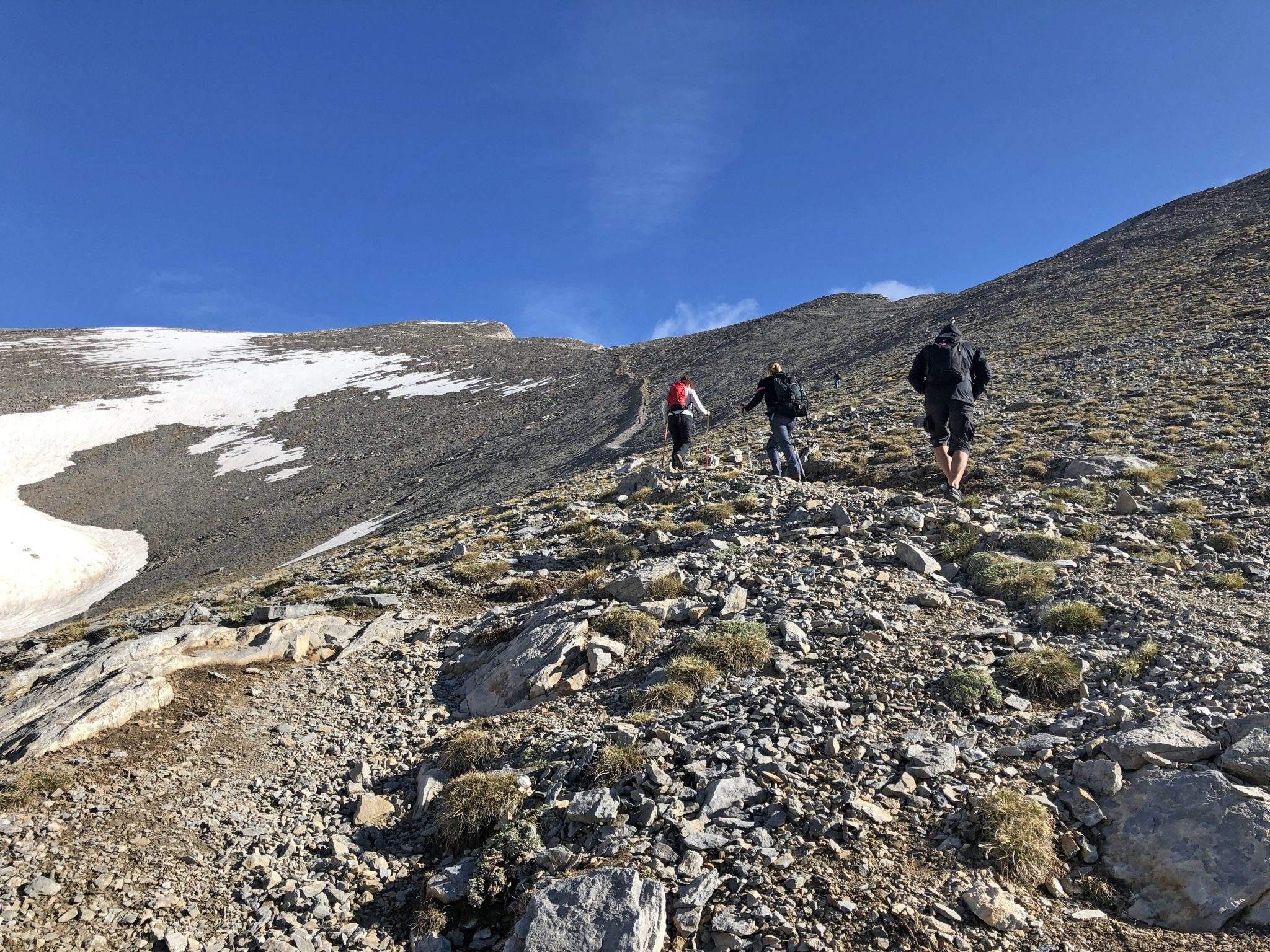 De laatste meters voor de top