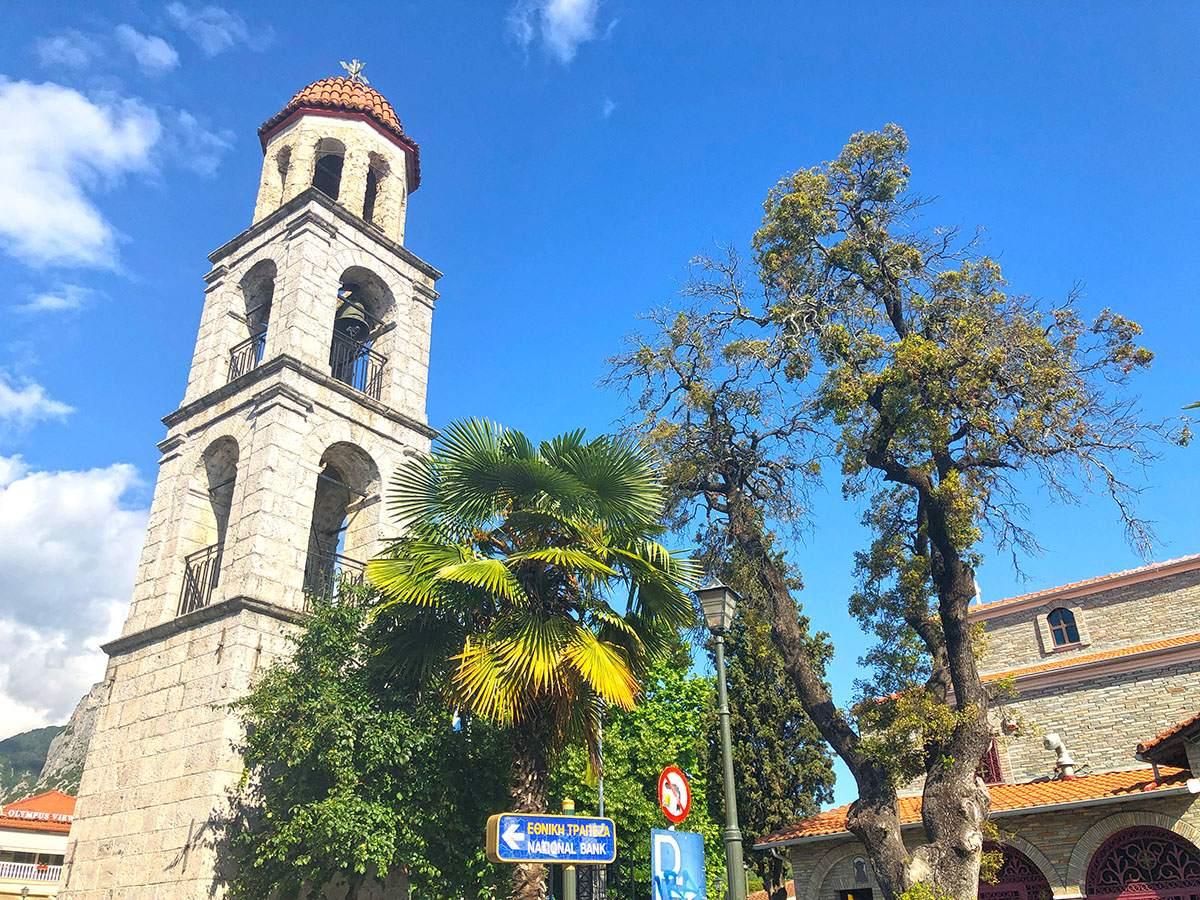 Centrum van Litochoro in Noord-Griekenland
