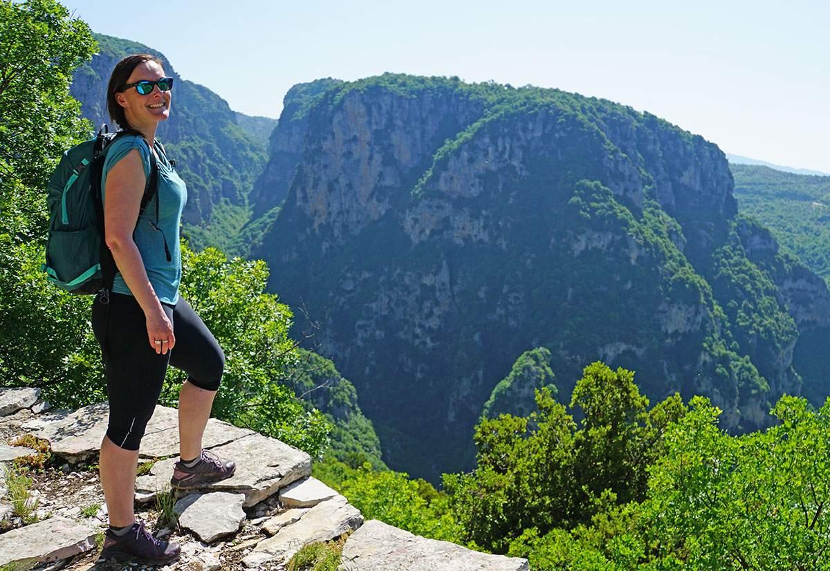 De Vikos kloof in Noord-Griekenland bij Monodendri