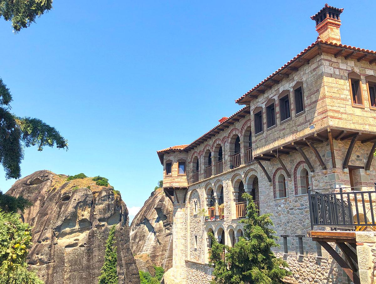 Varlaäm klooster Meteora iin Noord-Griekenland