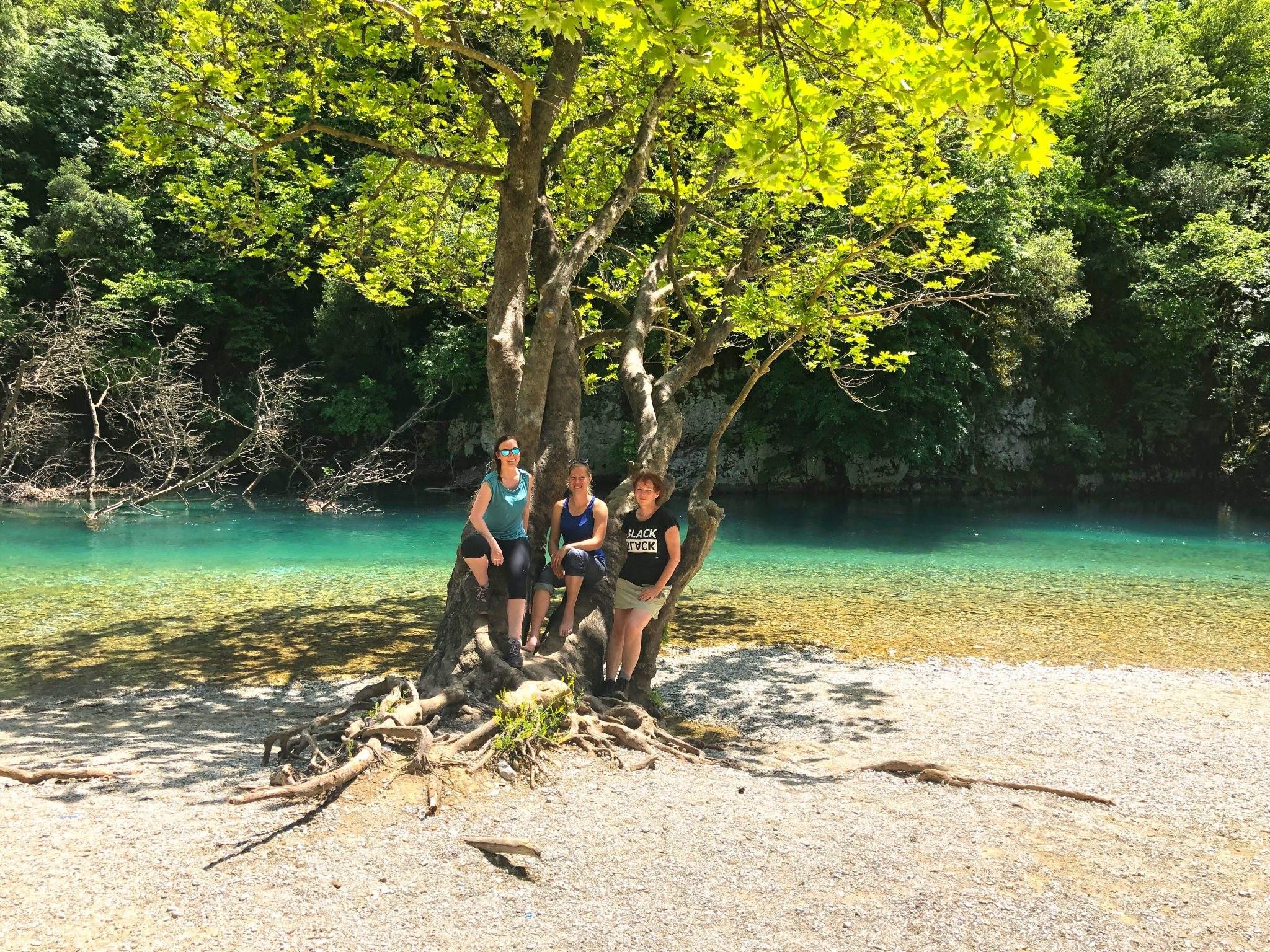 Met zijn drieën in de Vikos Kloof in Noord-Griekenland