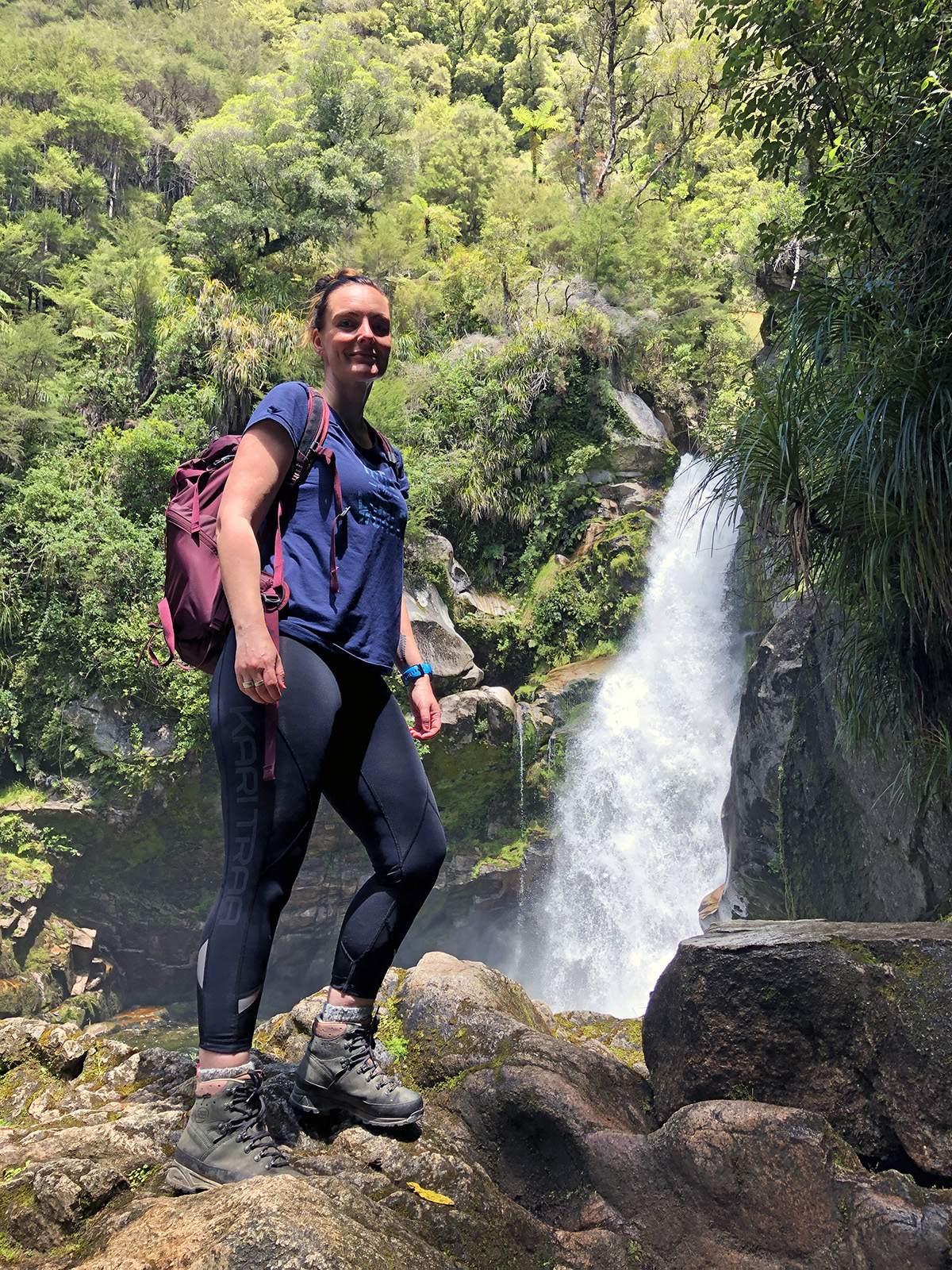 At the Wainui Falls Walk