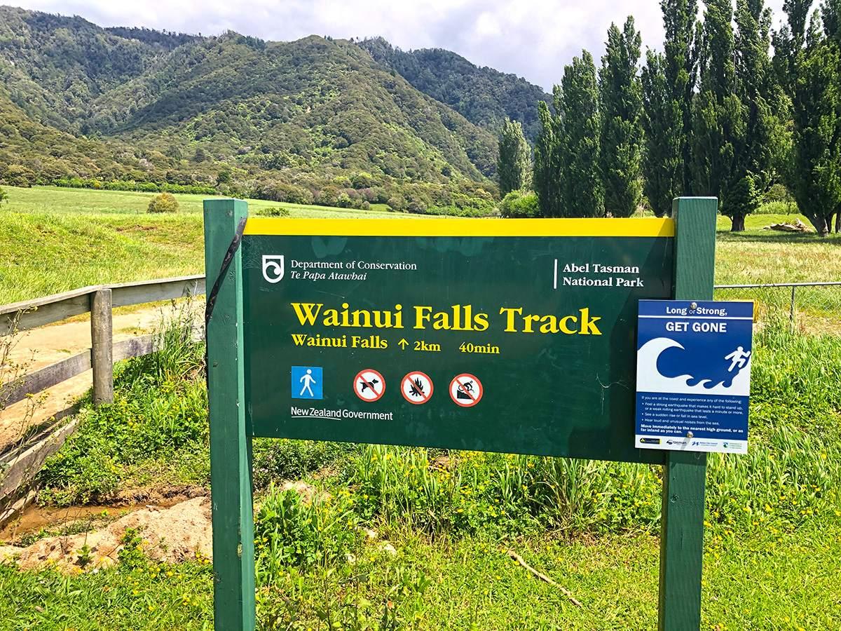 Wainui Falls trailhead