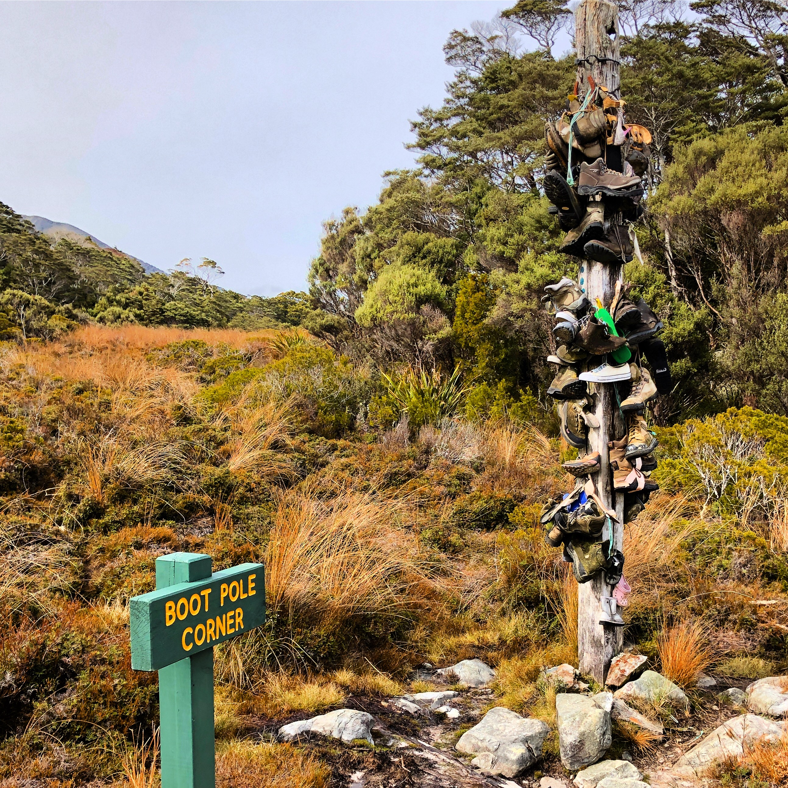 Boot pole Heaphy Track