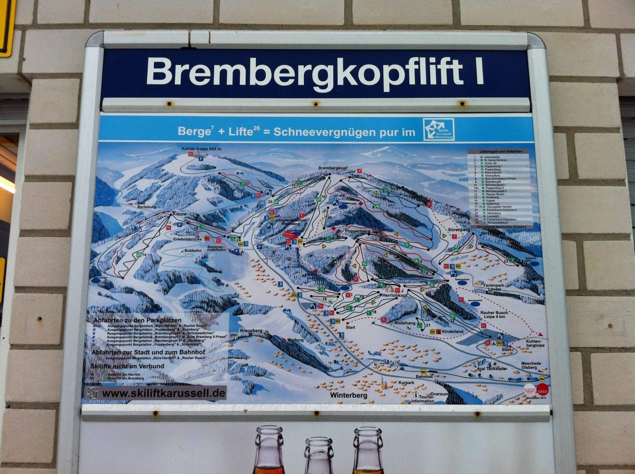 skiën in winterberg