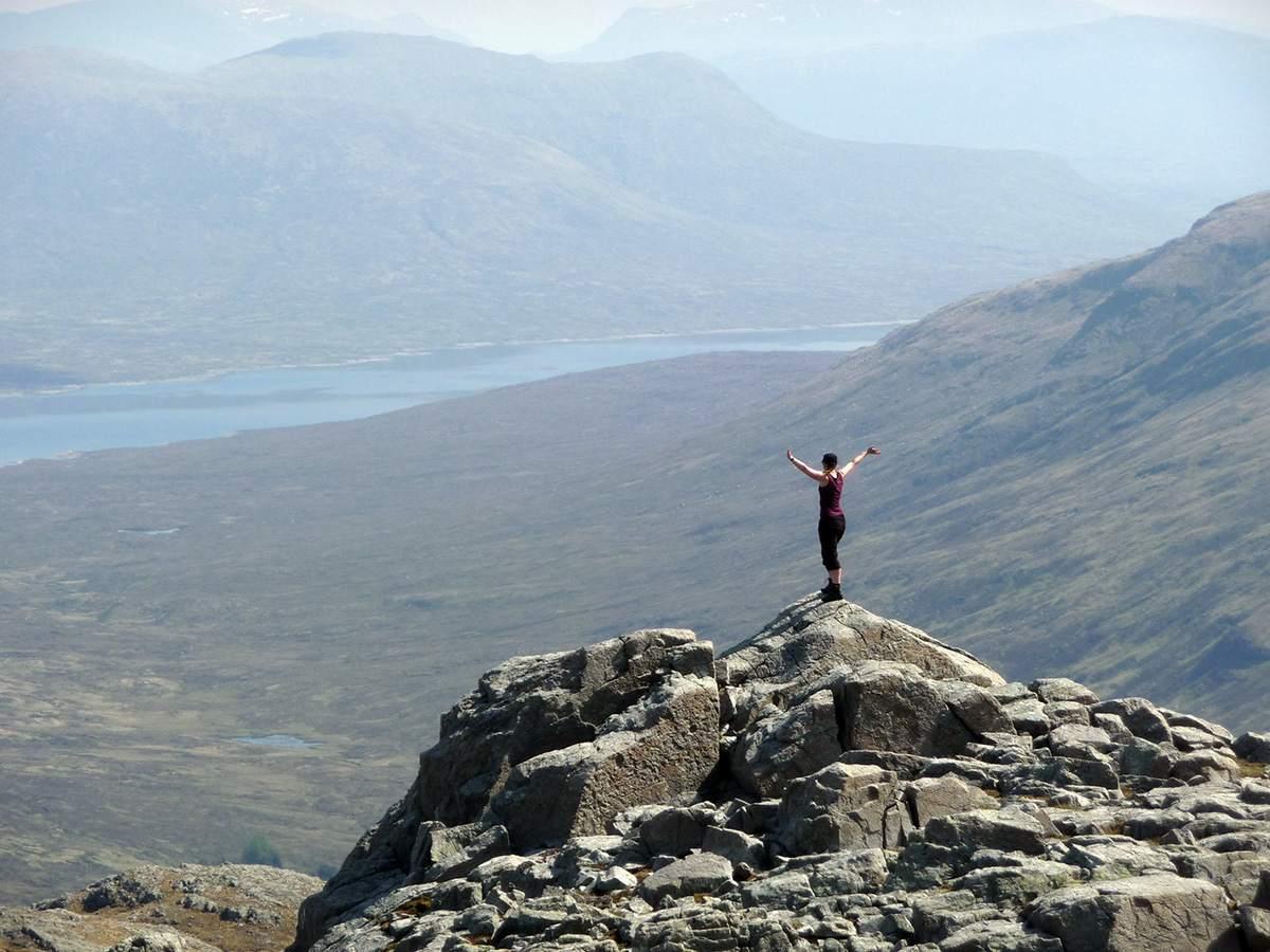 Op de top van mijn eerste Munro