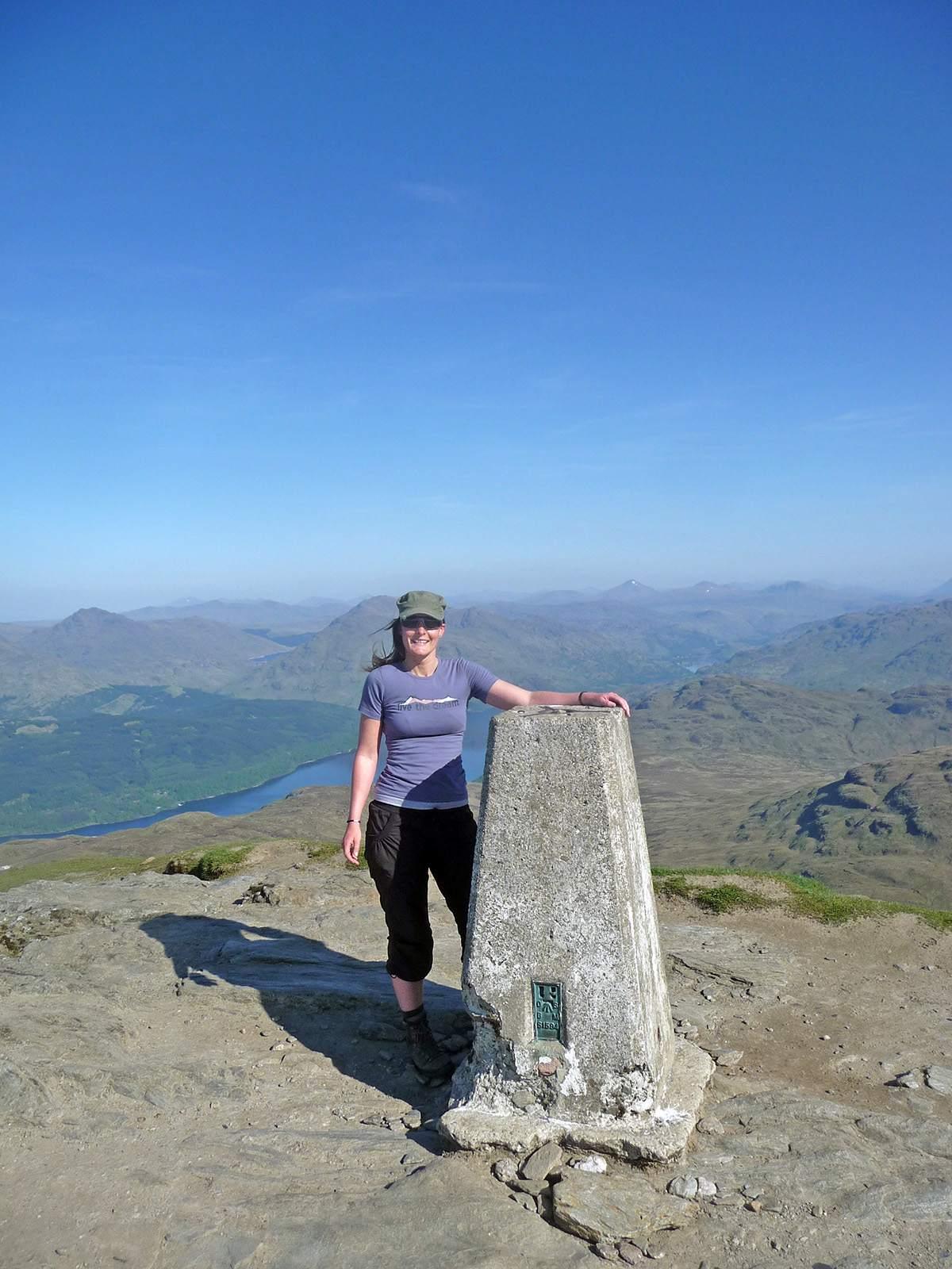 Op de top van Ben Lomond