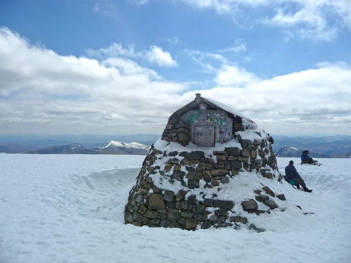 op de top van de Ben Nevis