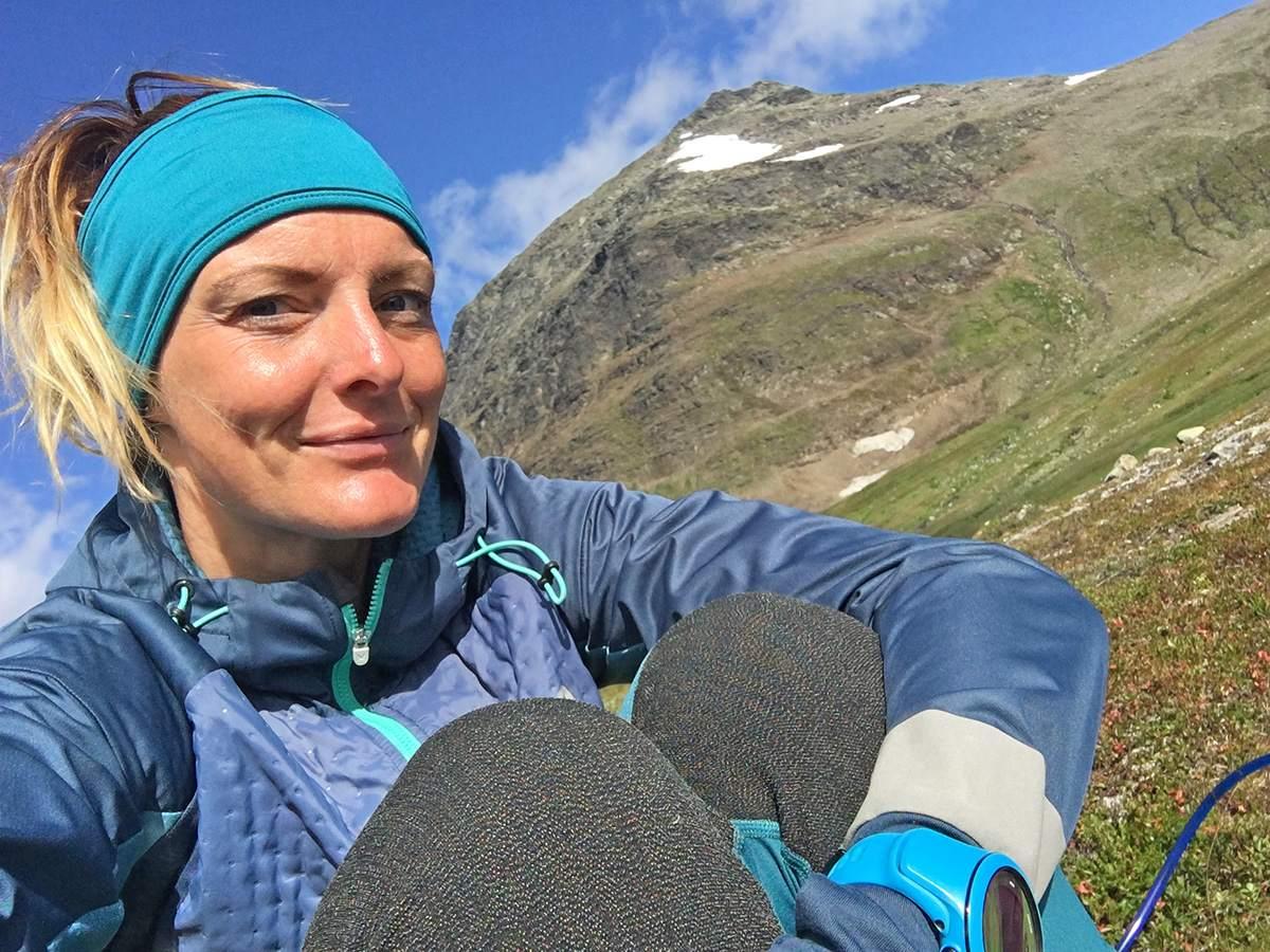 Antonette op de Kungsleden hike