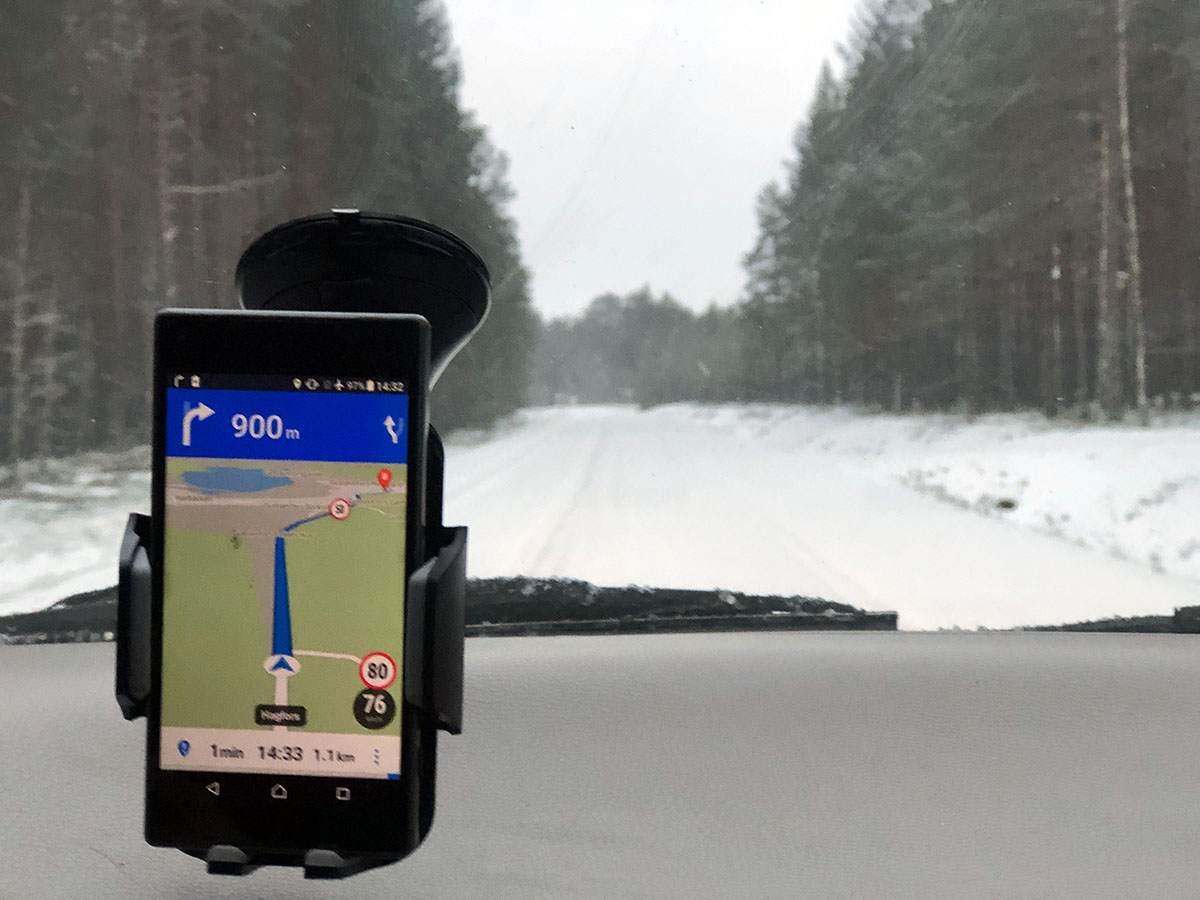 Met de auto naar Zweden in de winter