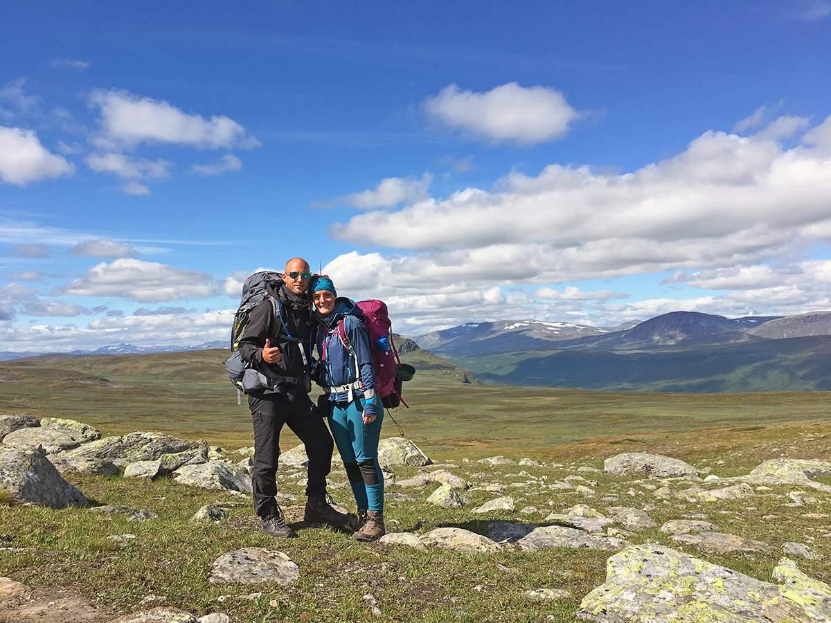 Op een van de bergpassen van de Kungsleden Trail