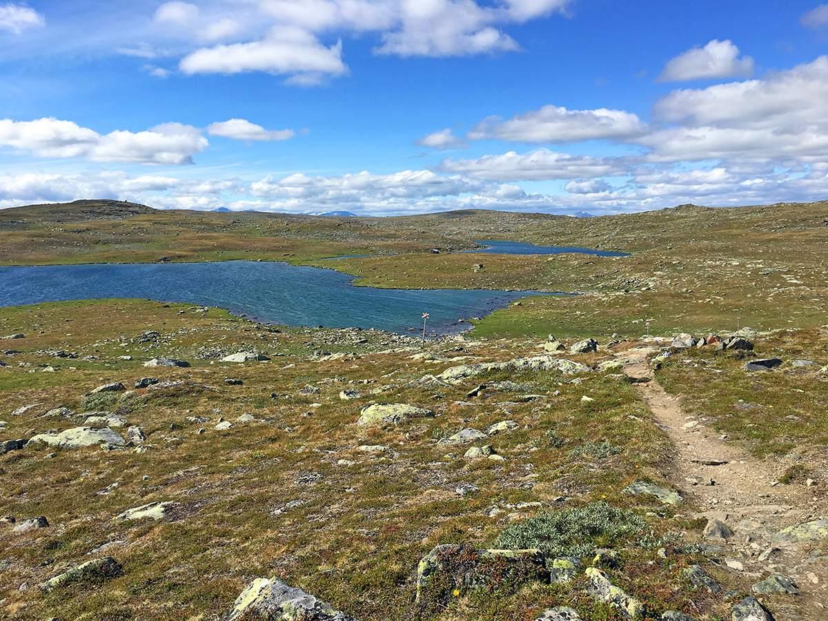Door alpien terrein op de Kungsleden hike