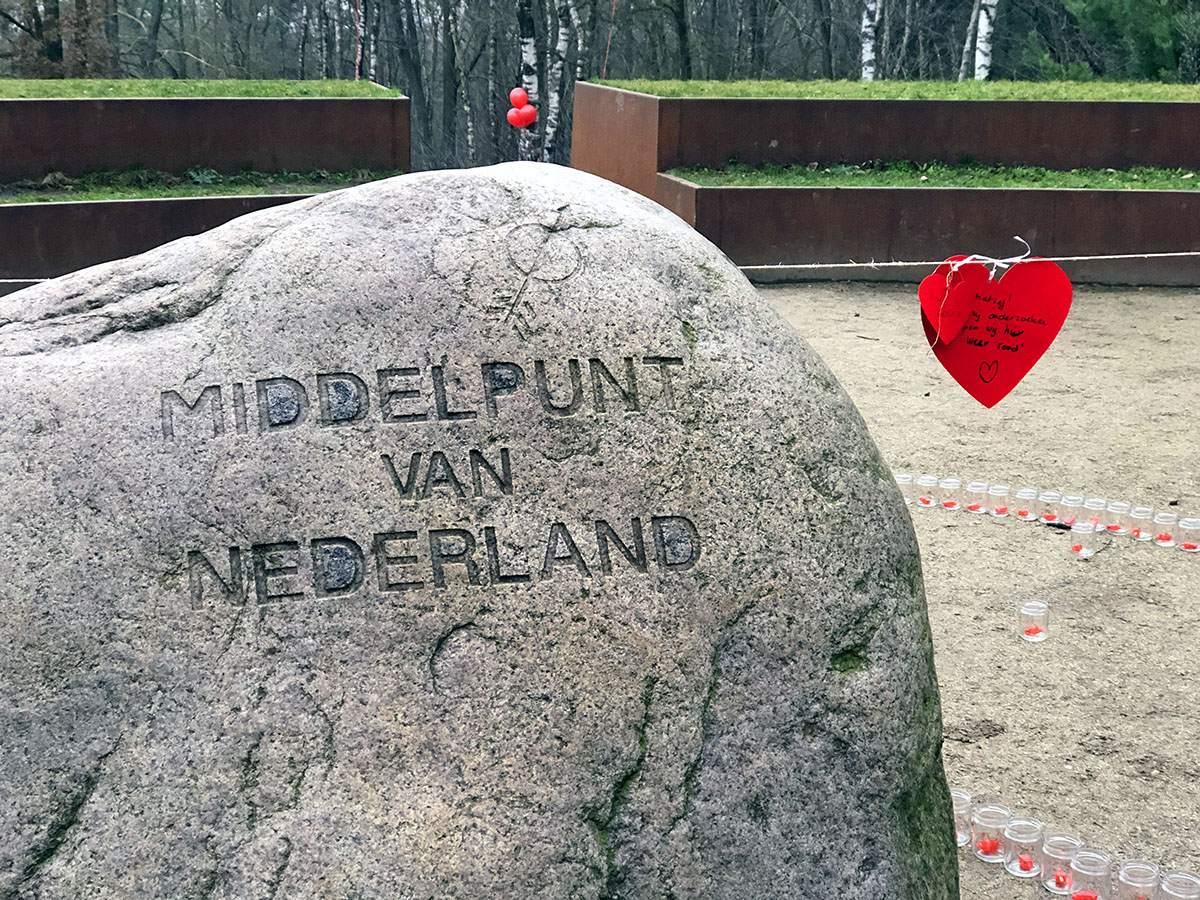 wandelroute naar het middelpunt van Nederland