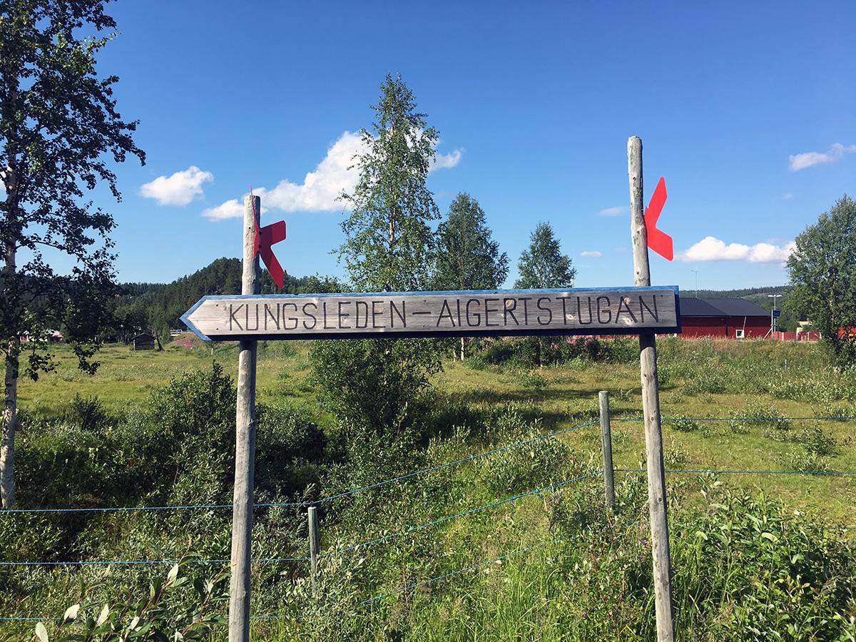 Start van de hike in Ammarnäs