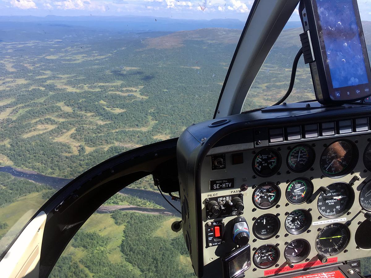 Vliegen naar Ammarnäs