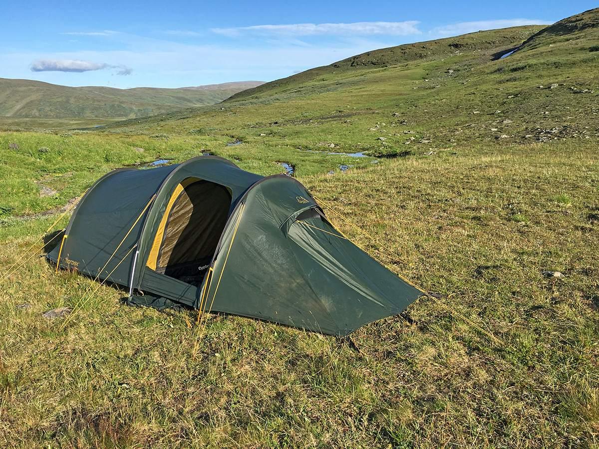 Onze kampeerplek net voor Servestugan