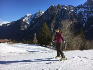 Winter activities in Brandnertal, Austria