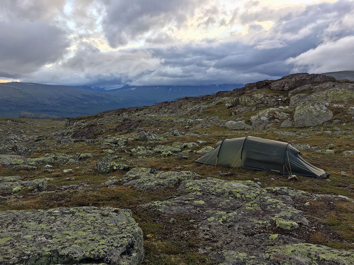 Camping near Skierfe in Sarek National Park
