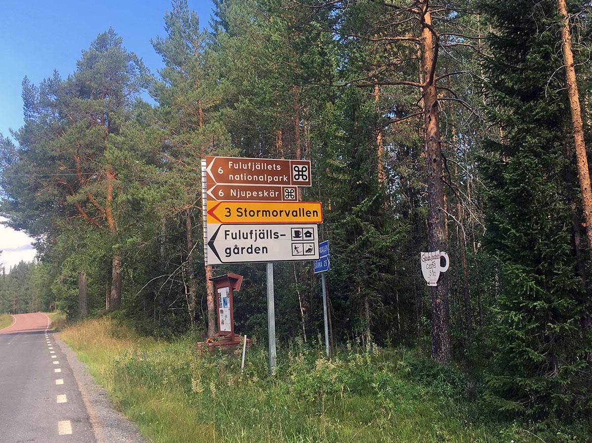 Weg naar Fulufjället National Park
