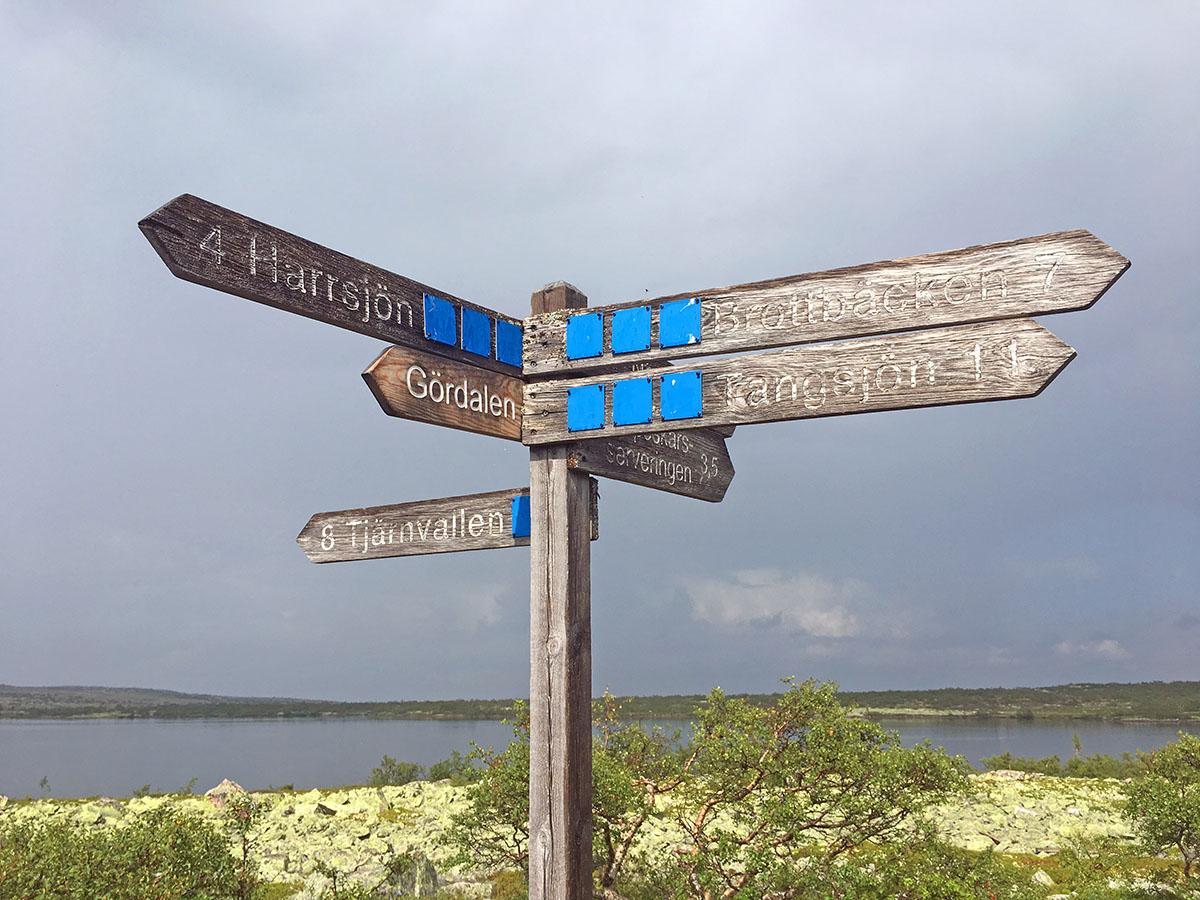 Wegwijzer Fulufjället National Park
