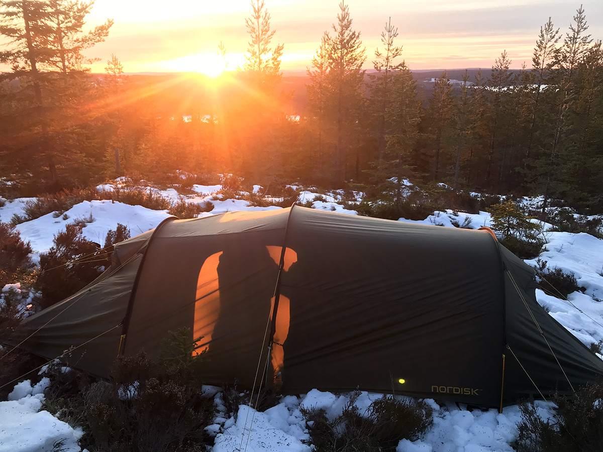 winterkamperen en wildkamperen in zweden
