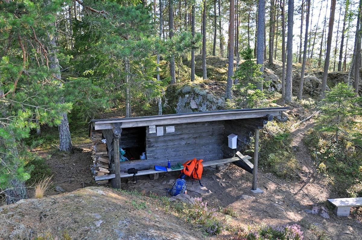 Een schuilhut in Zweden
