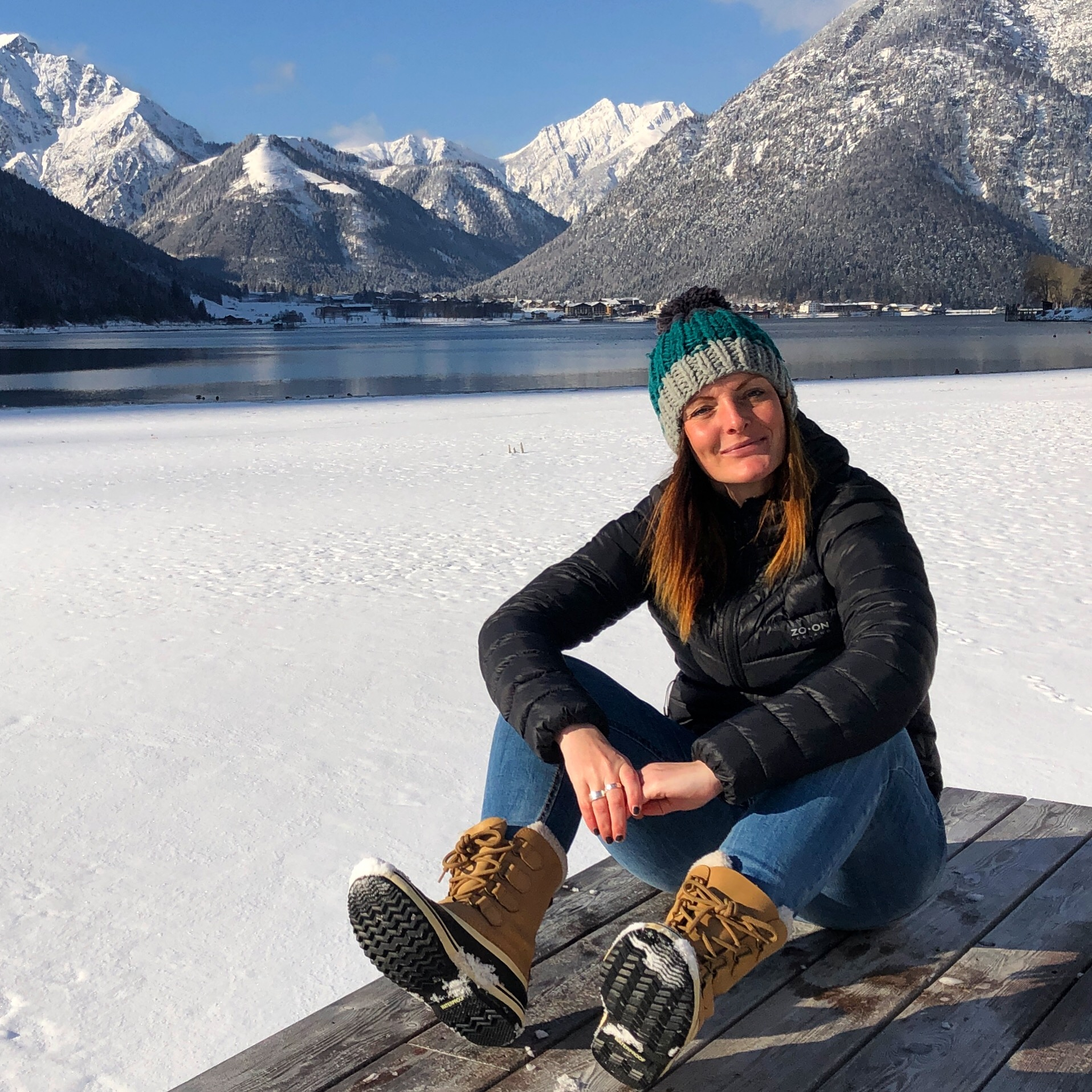 Aan de Achensee in de winter